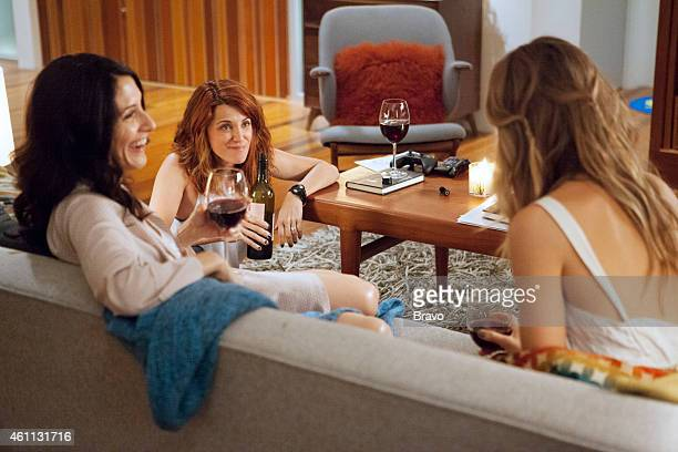 GIRLFRIENDS' GUIDE TO DIVORCE 'Rule Ask The Answer Lady' Episode 108 Pictured Lisa Edelstein as Abby Alanna Ubach as Jo Beau Garrett as Phoebe