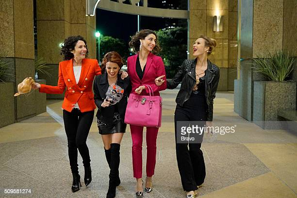 GIRLFRIENDS' GUIDE TO DIVORCE 'Rule Let Her Eat Cake' Episode 211 Pictured Lisa Edelstein as Abby Alanna Ubach as Jo Necar Zadegan as Delia Beau...