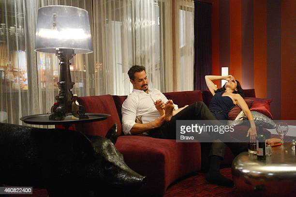 GIRLFRIENDS' GUIDE TO DIVORCE 'Rule When In Doubt Run Away' Episode 106 Pictured Victor Webster as Carl Lisa Edelstein as Abby