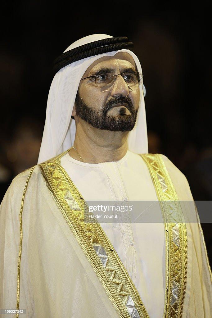 Ruler of Dubai Sheikh Mohammed bin Rashid Al Maktoum attends the American University Dubai 2013 Graduation Ceremony on May 12, 2013 in Dubai, United Arab Emirates.