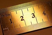gold color ruler fragment