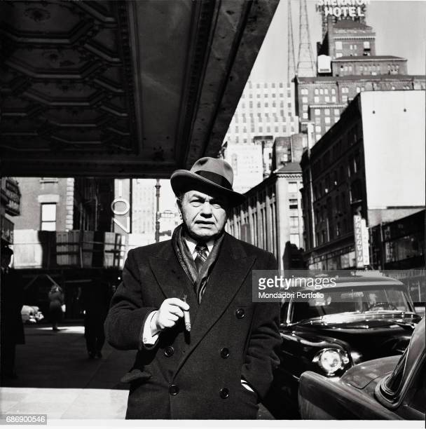 Rumanianborn American actor Edward G Robinson in the streets of New York This picture is taken from the monography 'Mario De Biasi Il mio sogno Š...