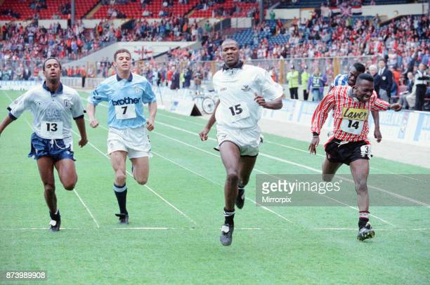 Rumbelows Sprint Challenge 2nd Semi Final Wembley Stadium Sunday 12th April 992 The aim of the challenge was to find the fastest player in the League...