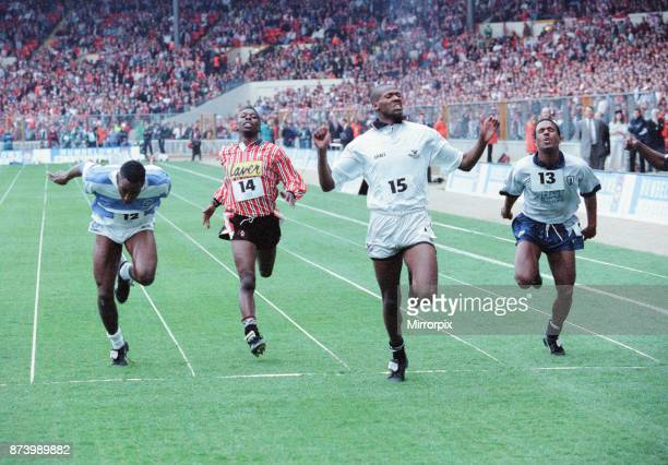 Rumbelows Sprint Challenge Final Wembley Stadium Sunday 12th April 992 The aim of the challenge was to find the fastest player in the League Each...
