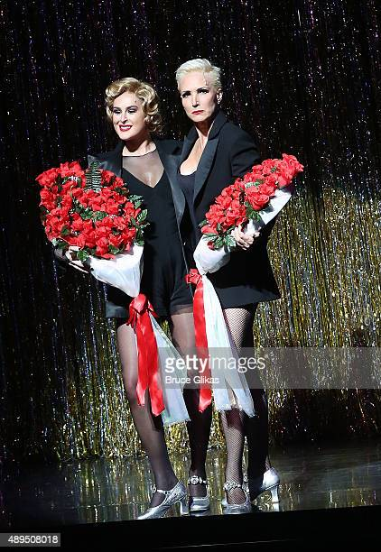 Rumer Willis and Amra Faye Wright perform as Rumor makes her broadway debut as 'Roxie Hart' in Broadway's 'Chicago' on Broadway at The Ambassador...