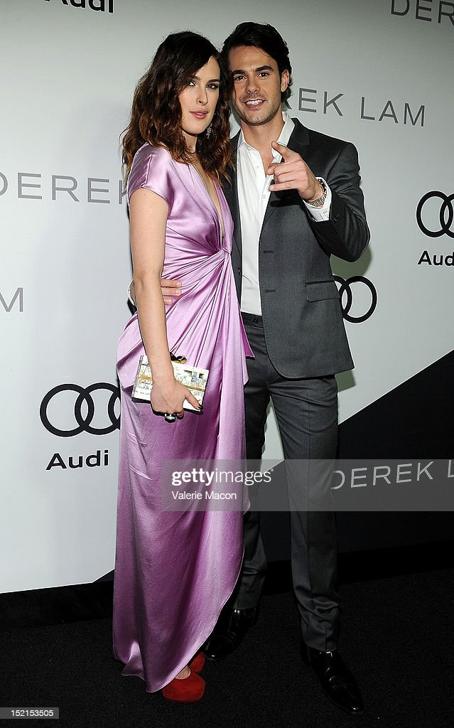 <a gi-track='captionPersonalityLinkClicked' href=/galleries/search?phrase=Rumer+Willis&family=editorial&specificpeople=617003 ng-click='$event.stopPropagation()'>Rumer Willis</a> and Jayson Blair arrives at Audi And Derek Lam Kick Off Emmy Week 2012 party at Cecconi's Restaurant on September 16, 2012 in Los Angeles, California.