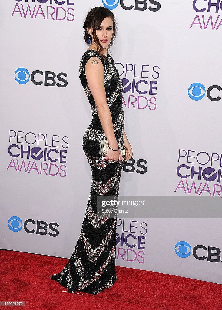 Rumer Willis arrives at the 2013 People's Choice Awards at Nokia Theatre L.A. Live on January 9, 2013 in Los Angeles, California.