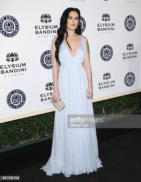 Rumer Willis arrives at The Art of Elysium celebrating the 10th Anniversary held at Red Studios on January 7 2017 in Los Angeles California