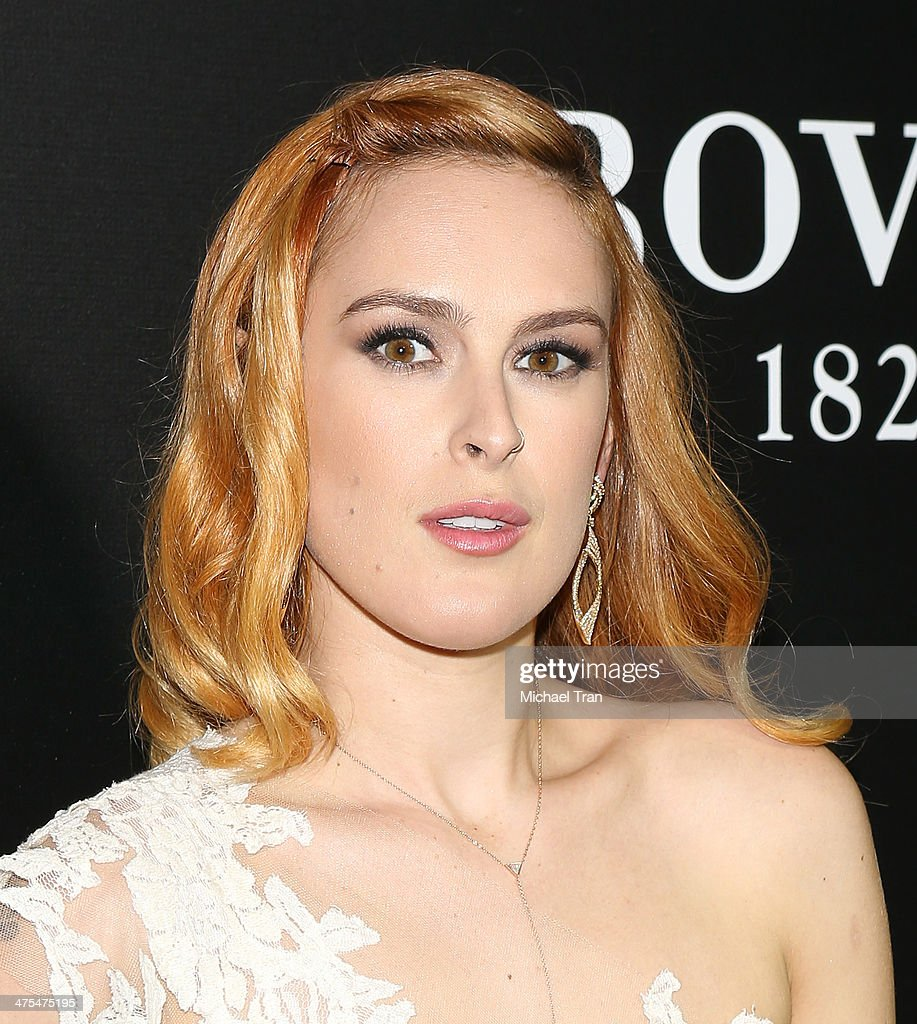 <a gi-track='captionPersonalityLinkClicked' href=/galleries/search?phrase=Rumer+Willis&family=editorial&specificpeople=617003 ng-click='$event.stopPropagation()'>Rumer Willis</a> arrives at the Hollywood Domino's 7th Annual Pre-Oscar Charity Gala held at Sunset Tower on February 27, 2014 in West Hollywood, California.