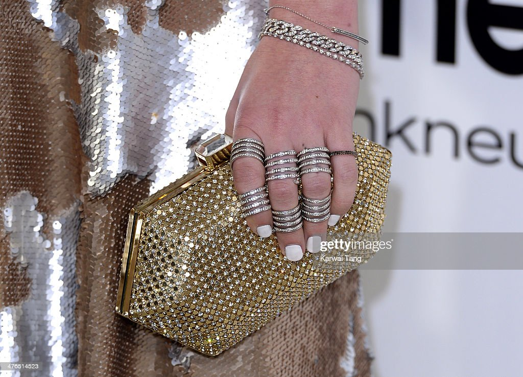 <a gi-track='captionPersonalityLinkClicked' href=/galleries/search?phrase=Rumer+Willis&family=editorial&specificpeople=617003 ng-click='$event.stopPropagation()'>Rumer Willis</a> (Bag detail) arrives for the 22nd Annual Elton John AIDS Foundation's Oscar Viewing Party held at West Hollywood Park on March 2, 2014 in West Hollywood, California.