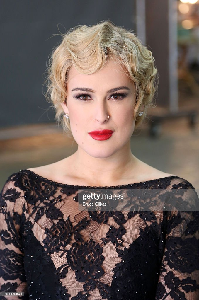 Rumer Willis as 'Roxie Hart' behind the scenes at a photo shoot for her broadway debut in 'Chicago' on Broadway at The Highline Studios on July 20...