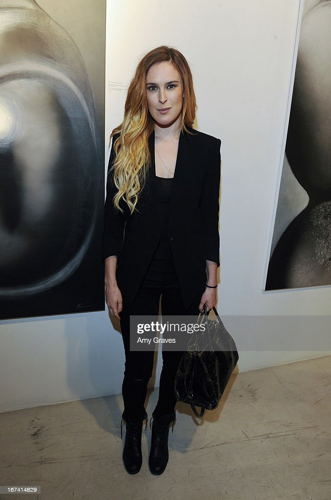 Rumer Willis attends Nomad Two Worlds and Russell James Private Reception at Guy Hepner Gallery on April 24, 2013 in Hollywood, California.