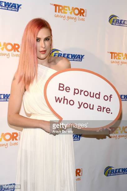 Rumer Willis attends the PROM 2014 A NIGHT OUT FOR TREVOR presented by the Trevor Project NextGen Los Angeles at Petersen Automotive Museum on May 31...