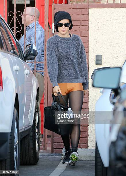 Rumer Willis is seen in Hollywood on April 14 2015 in Los Angeles California