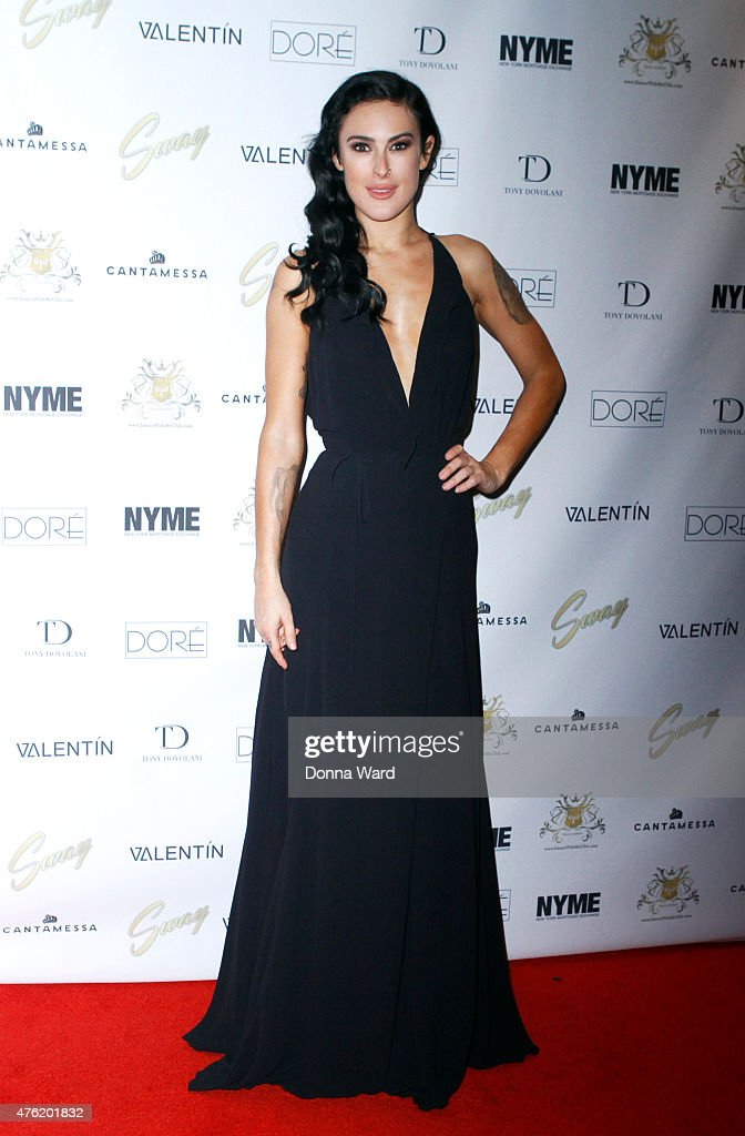 Rumer Willis poses after the closing night performance of 'Sway' at the Hammerstein Ballroom on June 6 2015 in New York City