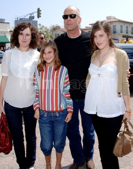 Rumer Willis Tallulah Belle Willis Bruce Willis and Scout ...