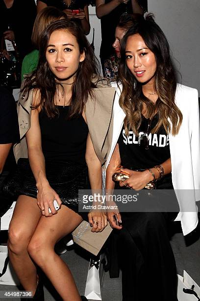 Rumi Neely and Aimee Song attend the 31 Philip Lim Spring Summer 2015 fashion show with TRESemme at Skylight Clarkson SQ on September 8 2014 in New...