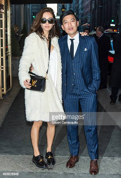 Rumi Neely and BryanBoy are seen arriving at Marchesa fashion show during MercedesBenz Fashion Week Fall 2015 at St Regis Hotel on February 18 2015...
