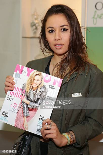Rumi Neely attends the NYLON and Olay Fresh Effects Present Neon Carnival with GUESS on April 12 2014 in Thermal California