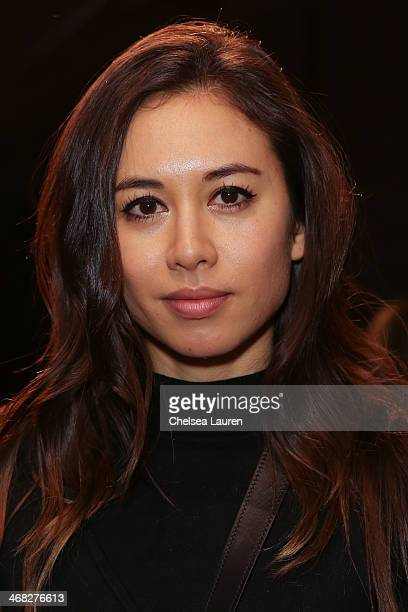 Rumi Neely attends the Yigal Azrouel fashion show on February 9 2014 in New York City