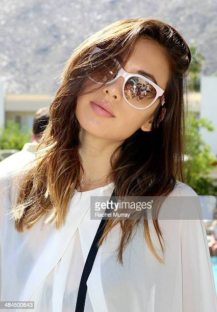 Rumi Neely of The Fashion Toast in Marc By Marc Jacobs Eyewear at Desert Gold at Ace Hotel Swim Club presented by Marc By Marc Jacobs Eyewear on...