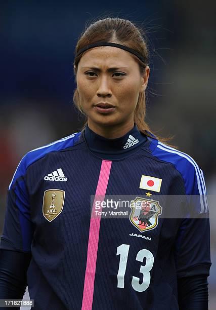 Rumi Utsugi of Japan during the England Women v Japan Women Womens' International Match at Pirelli Stadium on June 26 2013 in BurtonuponTrent England