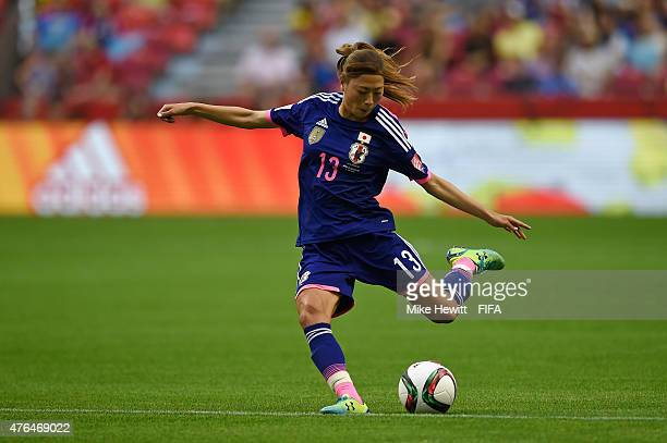 Rumi Utsugi of Japan in action during the FIFA Women's World Cup 2015 Group C match between Japan and Switzerland at BC Place Stadium on June 8 2015...