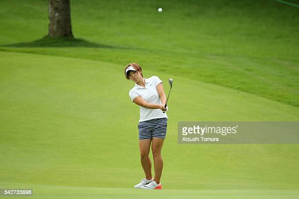Rumi Yoshiba of Japan chips onto the 12th green during the second round of the Earth Mondamin Cup at the Camellia Hills Country Club on June 24 2016...