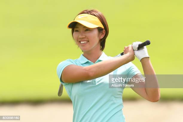 Rumi Yoshiba of Japan smiles during the second round of the Century 21 Ladies Golf Tournament 2017 at the Seta Golf Course on July 22 2017 in Otsu...