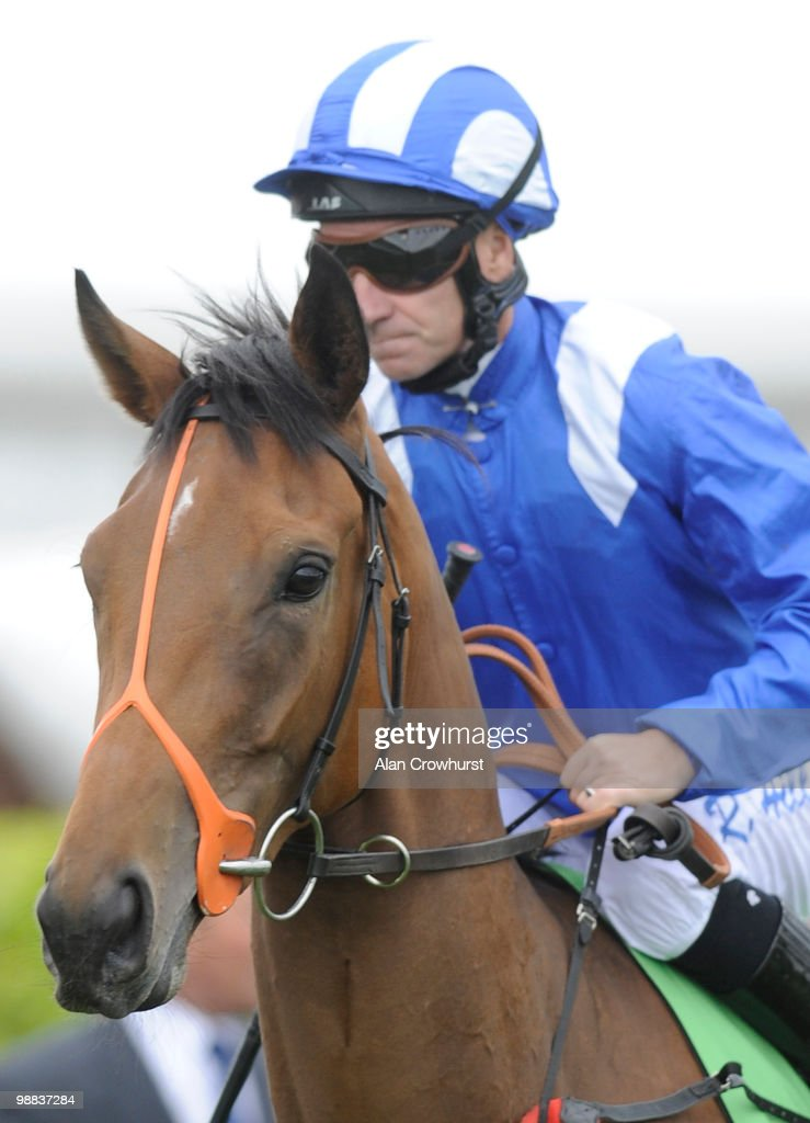 Rumoush and Richard Hills at Newmarket racecourse on May 02, 2010 in Newmarket, England