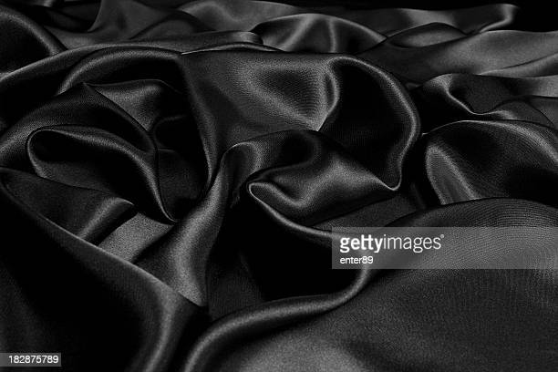 Rumpled black satin background