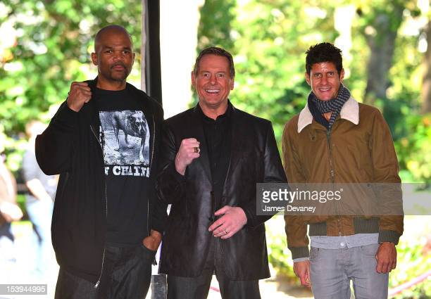 Run DMC Darryl McDaniels WWE Hall of Famer ÒRowdyÓ Roddy Piper and Beastie Boys Mike D attends Madison Square Garden's 'Garden 366' And 'Defining...