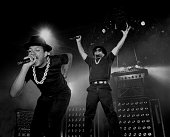 Rappers Run and DMC from Run DMC performs at the UIC Pavilion in Chicago Illinois in 1984