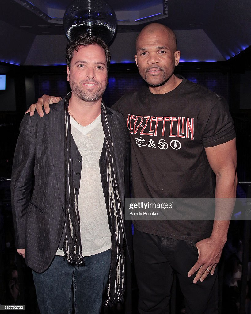 Run DMC's Daryl McDaniels poses with Shaun Jacobson during the 2016 Bryan Jacobson Foundation Charity Event at Howl at the Moon on June 2 2016 in New...