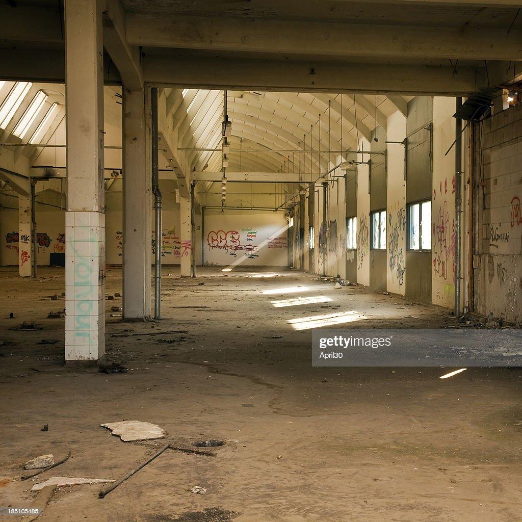 Run Down Grungy Factory Hall