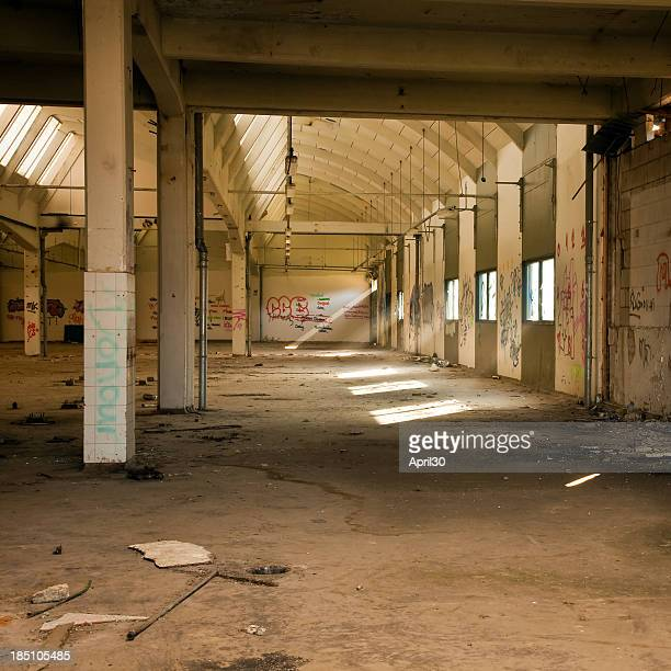 Run Down Grungy Factory Hall