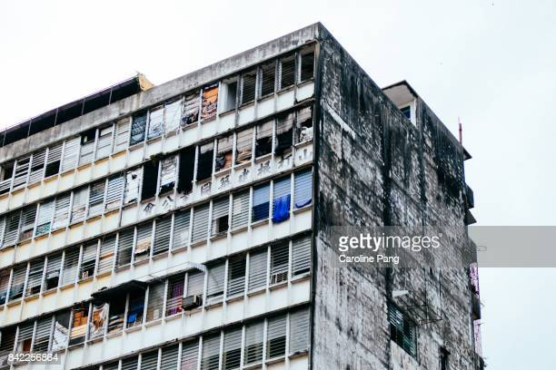Run down residential building.