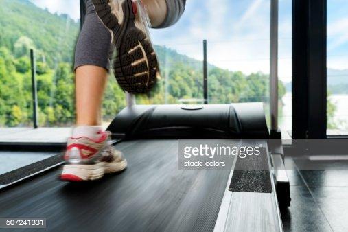 run on treadmill