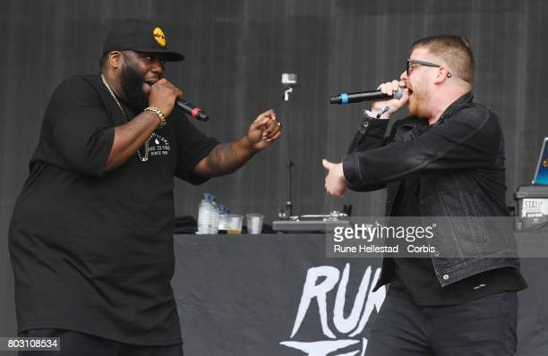 Run The Jewels perform on day 3 of the Glastonbury Festival 2017 at Worthy Farm Pilton on June 24 2017 in Glastonbury England