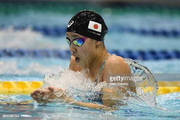 Runa Imai of Japan competes in 100m Breaststroke BFinal during the Japan Open 2017 at Tokyo Tatsumi International Swimming Pool on May 19 2017 in...