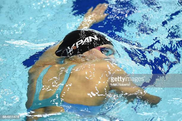 Runa Imai of Japan competes in 200m freestyle heats during the Japan Open 2017 at Tokyo Tatsumi International Swimming Pool on May 19 2017 in Tokyo...