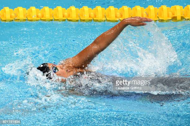 Runa Imai of Japan during the Women's 200m Individual Medley heats on day ten of the Budapest 2017 FINA World Championships on July 23 2017 in...