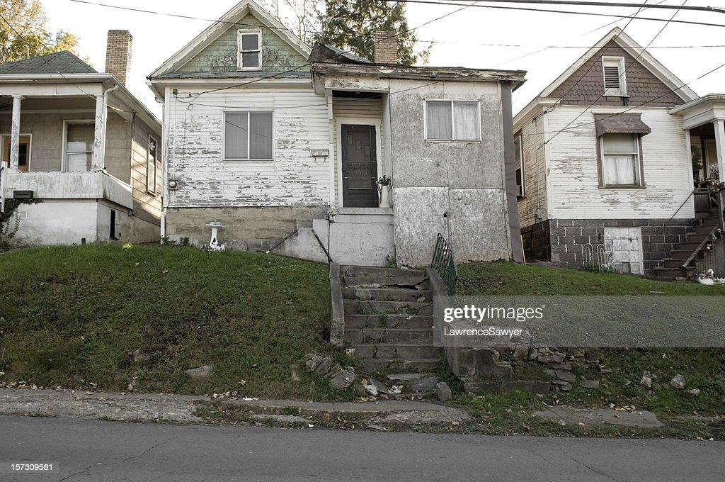 run-down housing, Fairmont, West Virginia : Stock Photo