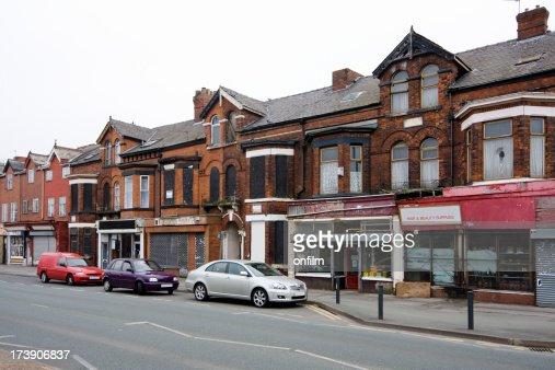 Run-down shops