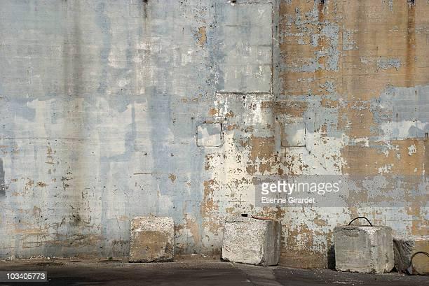 A run-down wall