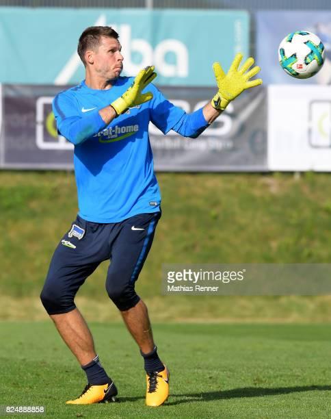 Rune Almenning Jarstein of Hertha BSC during the training camp on august 31 2017 in Schladming Austria