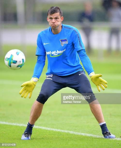 Rune Almenning Jarstein of Hertha BSC during the training on July 7 2017 in Berlin Germany