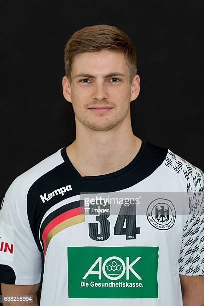 Rune Dahmke of Germany poses during the handball national team of Germany presentation prior to the Handball World Championship in France on December...