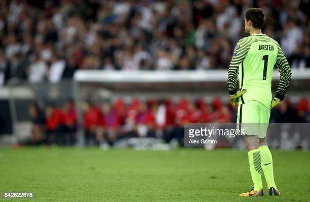 Rune Jarstein of Norway looks dejected during the FIFA 2018 World Cup Qualifier between Germany and Norway at MercedesBenz Arena on September 4 2017...