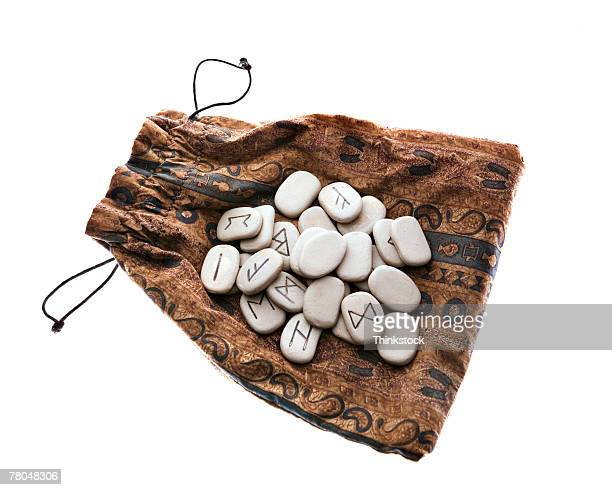 Rune stones and pouch